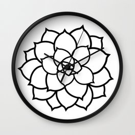 Simple Succulent Wall Clock
