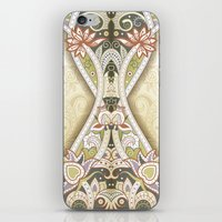 vintage floral iPhone & iPod Skins featuring Vintage Floral by Robin Curtiss