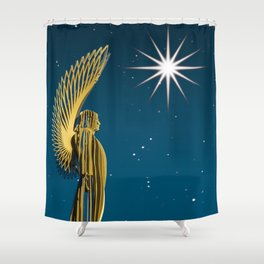 An Angel Came At Christmas Shower Curtain