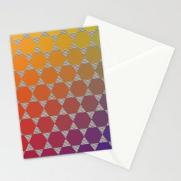 Lichtenberg-Mayer Colour Triangle recoloured remake, based on Mayer's original idea and illustration Stationery Cards