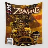 zombie Wall Tapestries featuring ZOMBIE by Don Kuing