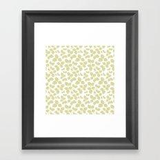 Modern Pinecone in Olive Framed Art Print