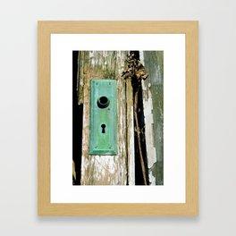Through the Keyhole Framed Art Print