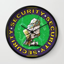 Blanket & Bear Security Wall Clock