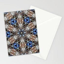 River Birch bark with blue sky kaleidoscope Stationery Cards