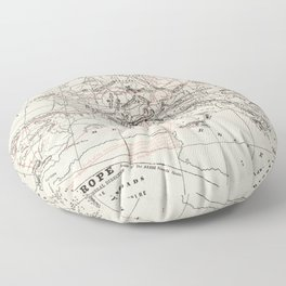 Vintage Fall of The Roman Empire Map (1901) Floor Pillow