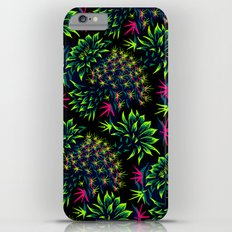 Cactus Floral - Bright Green/Pink Slim Case iPhone 6 Plus