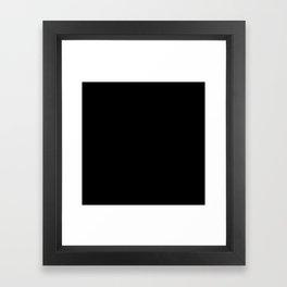 Simply Midnight Black Framed Art Print