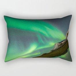 Aurora Borealis - Northern Lights over Iceland Rectangular Pillow