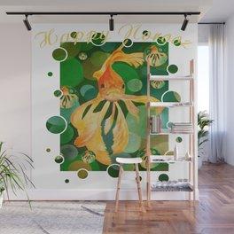 Happy Norooz Persian New Year Goldfish In Green Sea Wall Mural