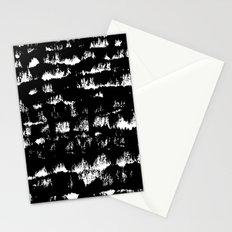 Black pattern#1 Stationery Cards