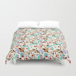 "Dialogue with the Dog - R01 - ""Friends"" Duvet Cover"