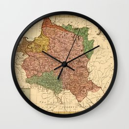 Map Of Poland 1770 Wall Clock