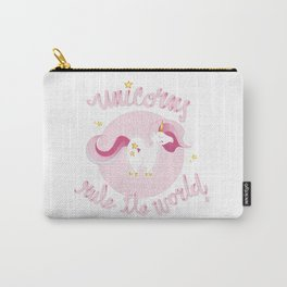 UNICORN RULE THE WORLD Carry-All Pouch