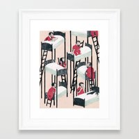 snow white Framed Art Prints featuring Snow White by Nicolai Troshinsky