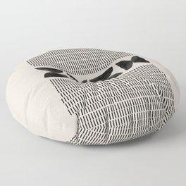 Mid Century Modern Geometric Floor Pillow
