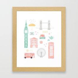London Travel Print Framed Art Print