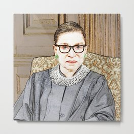 Associate Justice Of The Supreme Court Of The United States Ruth Bader Ginsburg Metal Print