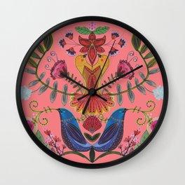 harmonie in salmon Wall Clock
