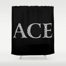 Ace of Spades - Variant Shower Curtain