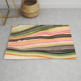 Watercolor strokes on wood III Rug