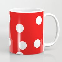 polka dot Mugs featuring Polka dot by Bubblemaker