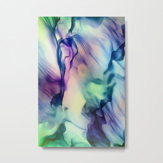 Flow in Blue and Purple Metal Print