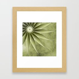 Olive Fantasy Flower Framed Art Print
