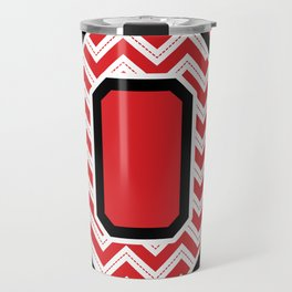 "Chevron Block ""O"" Travel Mug"