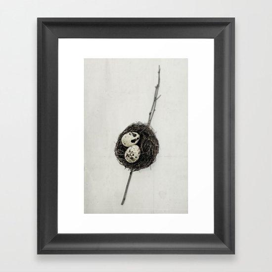 nest + speckled eggs | fig. o1 Framed Art Print
