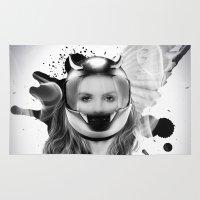 harley Area & Throw Rugs featuring harley girl by mark ashkenazi