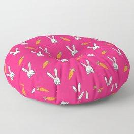 Vegan Gift Idea Cute Vegan Rabbit Floor Pillow
