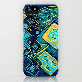 GALAXY SPARKLES BLUE iPhone Case