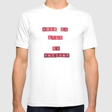 Note to Self White MEDIUM Mens Fitted Tee
