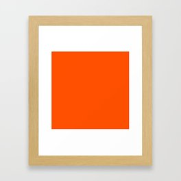 Solid Shades - Flame Framed Art Print