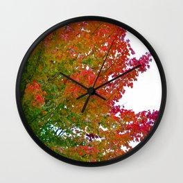 Feuilles d'automne Wall Clock