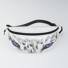 Wolf Blue Eyes Fanny Pack