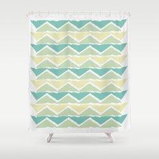 ocean triangles Shower Curtain