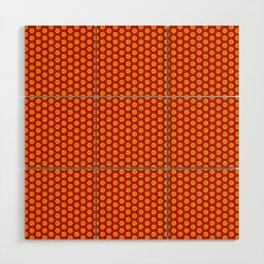 red and yellow Wood Wall Art