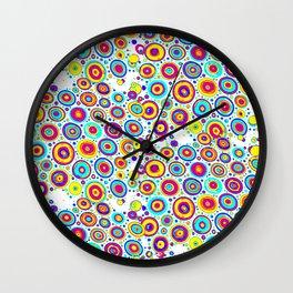Colorful circles 4 Wall Clock