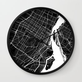 Montreal - Minimalist City Map Wall Clock