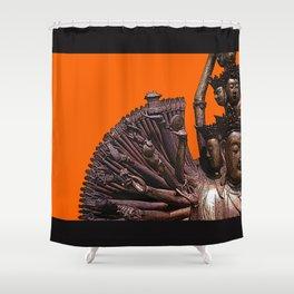 Quan Yin - Bronze Shower Curtain