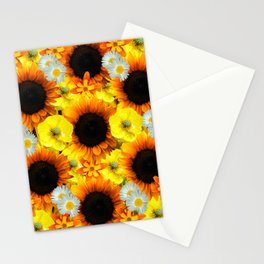 Sunflowers - Shades of yellow Stationery Cards