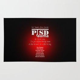 PTSD: Post Traumatic Stress Disorder / Black & Red Rug