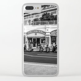 down the chippy Clear iPhone Case
