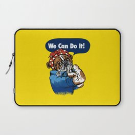 We Can Do It English Bulldog Laptop Sleeve