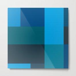 Classic Blue Pattern 1 Metal Print
