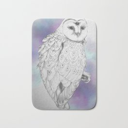 Owl with a third eye and crystal ball Bath Mat