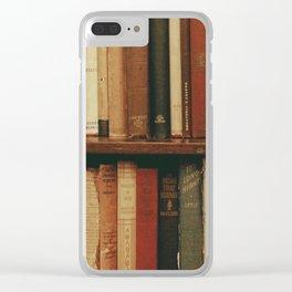 shelf of books Clear iPhone Case