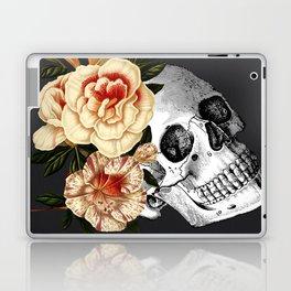 Dia De Los Muertos Black Linen Laptop & iPad Skin